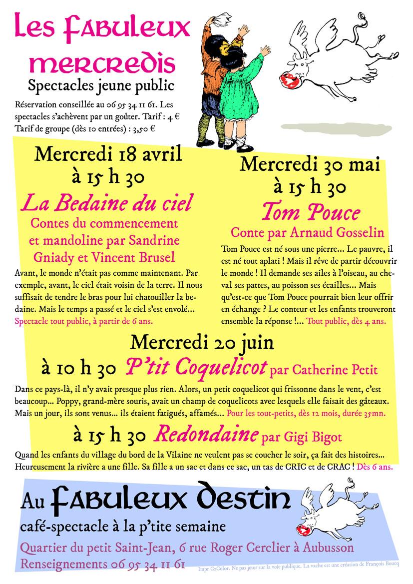 Affiche fab mercredis avril juin 18